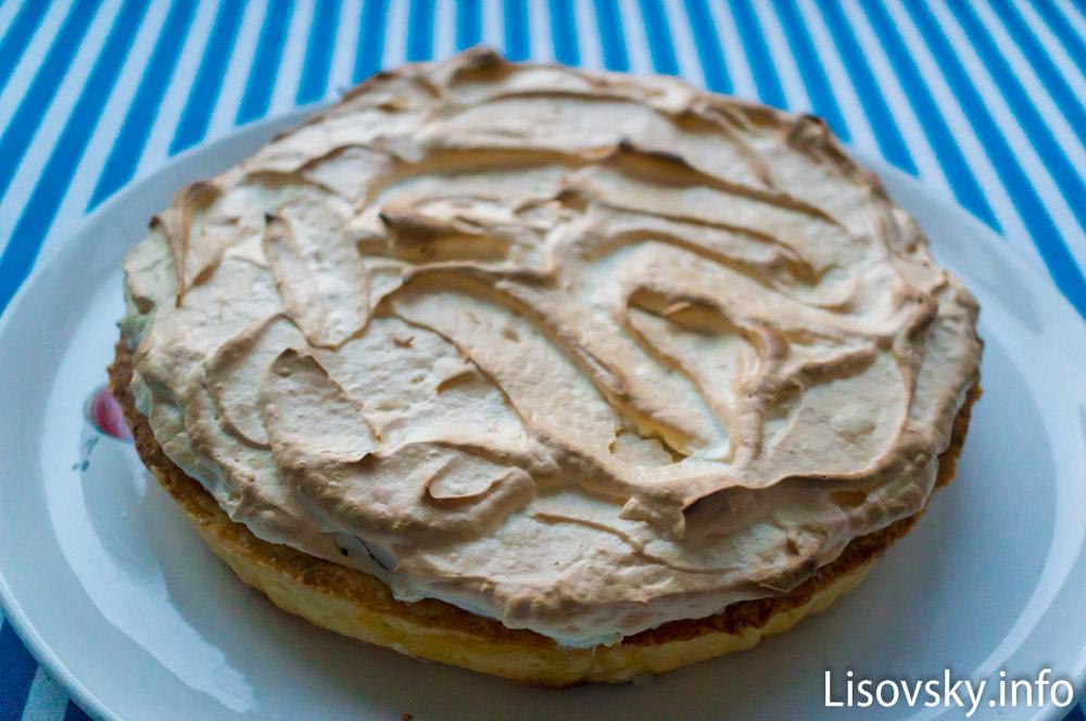 Лимонный пирог с меренгой (рецепт)