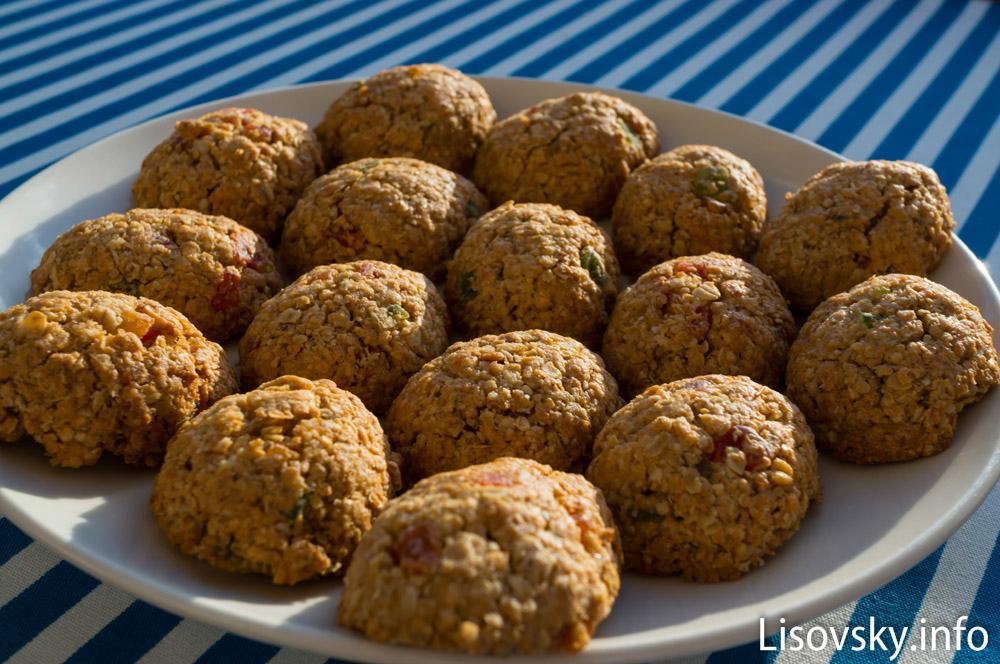 Овсяное печенье с сухофруктами (рецепт)