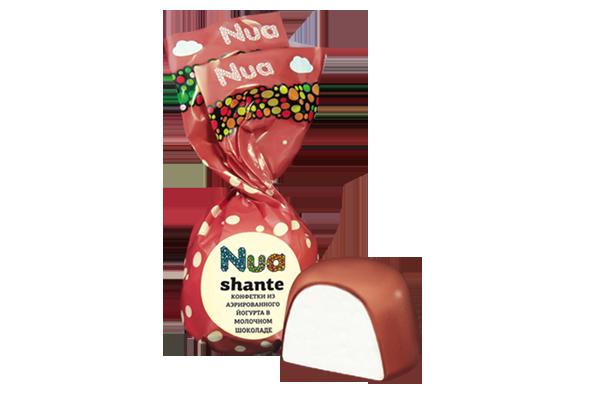 Конфеты Nua Shante йогурт в молочном шоколаде