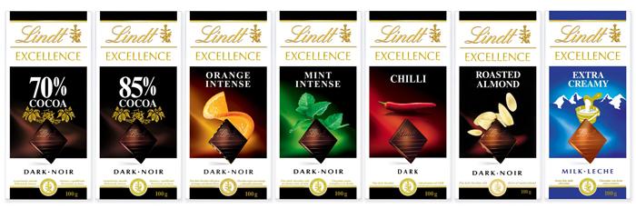 Шоколад Lindt (серия Excellence)